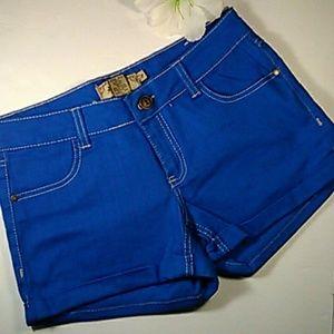 NWOT JouJou bright royal blue jeans shorts SZ 7/8